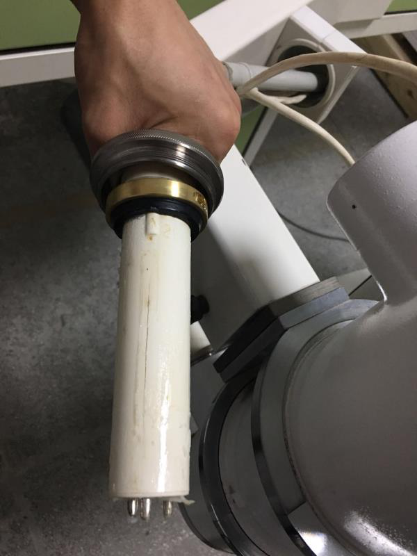 How to repair the broken plug of X-ray high voltage cable