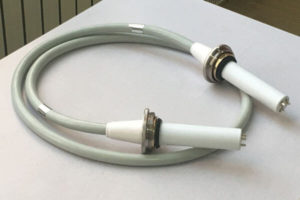 Mv cable connected to the X ray machine
